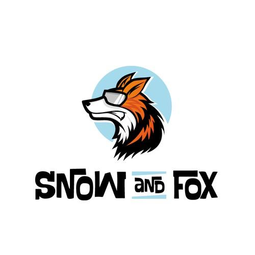 Mascot logo with the title 'Ski Fox logo'