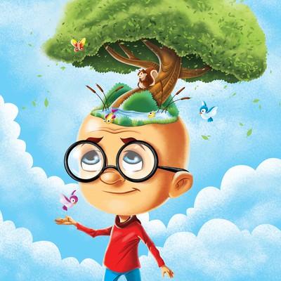 Illustration of cartoonish character