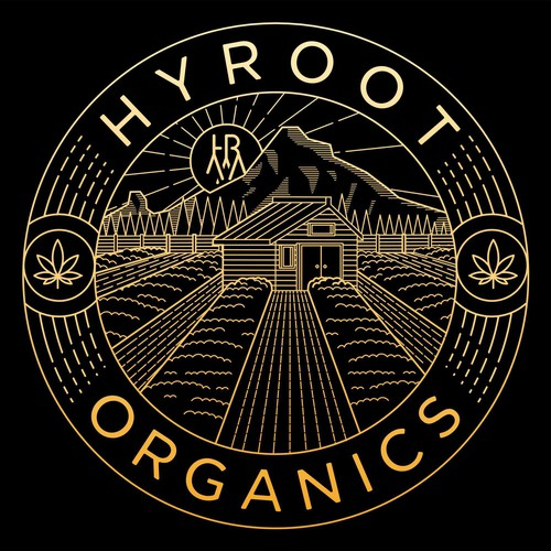 Mountain t-shirt with the title 'HYROOT ORGANIC T-SHIRT DESIGN'