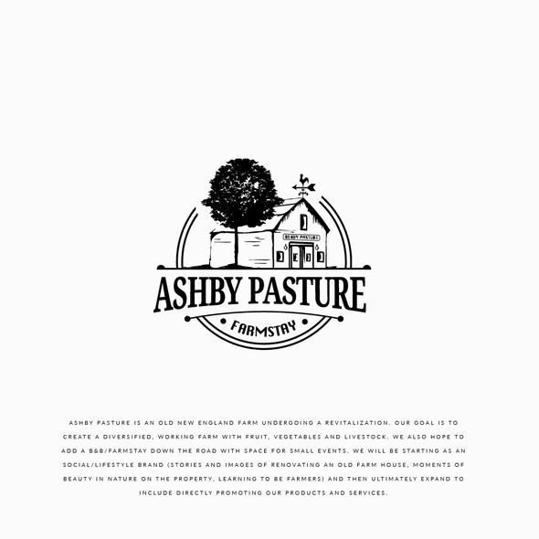 Circle brand with the title 'Logo Ashby Pasture'