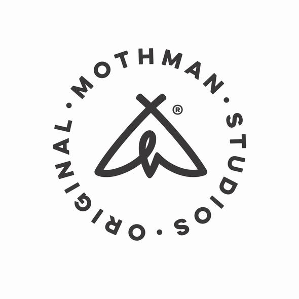 M design with the title 'Original Mothman Studios'