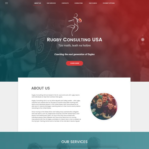 Rugby design with the title 'Rugby Consulting USA'