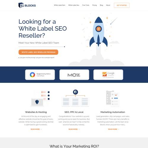 Online marketing design with the title 'Seo Website Design'