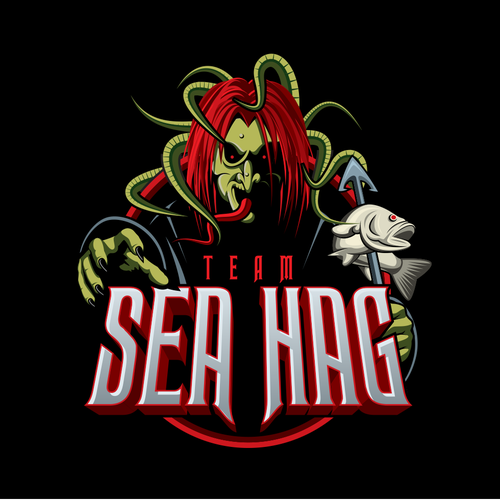 Creepy logo with the title 'Fishing Team Logo'