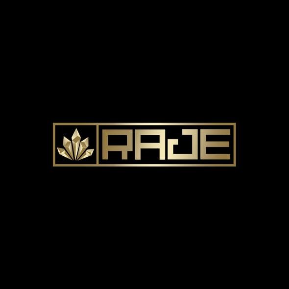 Hemp oil logo with the title 'RAJE'