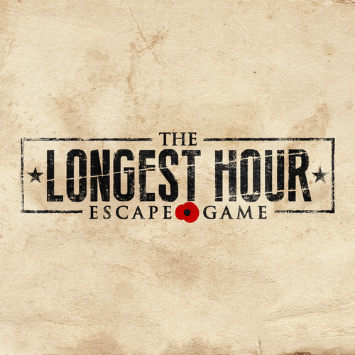 Commando logo with the title 'Logo design for The Longest Hour: Escape Game'