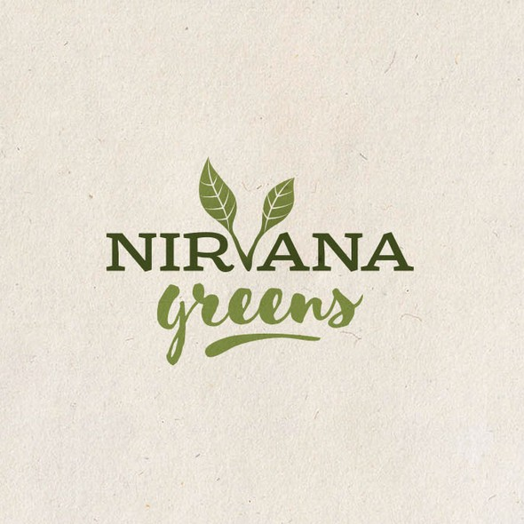Nutrition design with the title 'Logo for Nirvana Greens'