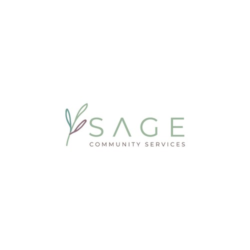 Plant design with the title 'A logo for community services brand'