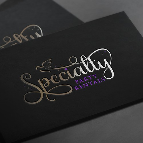 Feminine logo with the title 'Logo for a party rental company'