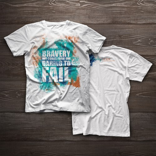 """Splash t-shirt with the title 'Men T-Shirt Design for """"Someday is now"""" '"""