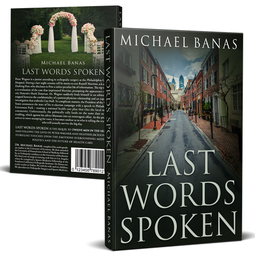 Sports book cover with the title 'Last Words Spoken'