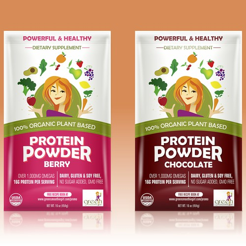 Berry design with the title 'GreenSmoothieGirl Food Labels'