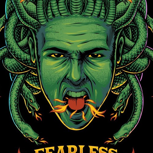 Snake t-shirt with the title 'Fearless Flavour'