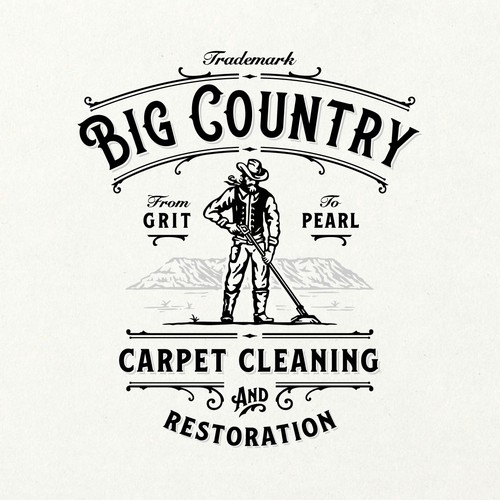Logo with the title 'Big Country Cleaning Co.'