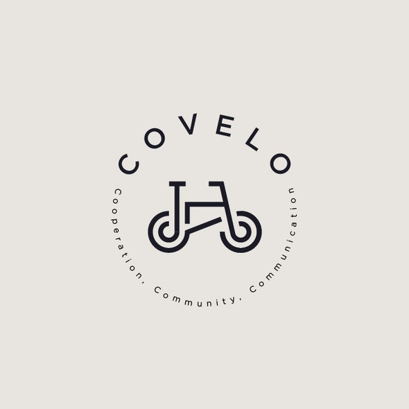 Cycling design with the title 'COVELO'