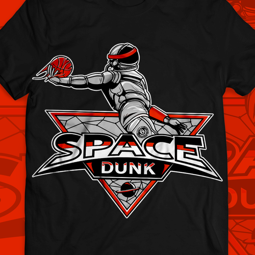 Urban t-shirt with the title 'Space basketball'