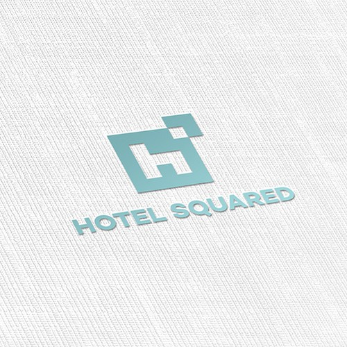 H logo with the title 'Less is More Logo for Hotel Management Company'