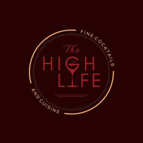 Cuisine logo with the title 'The High Life'