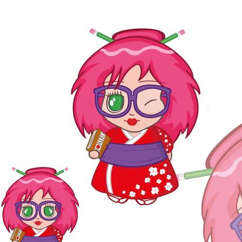 Anime logo with the title 'Anime Geisha'