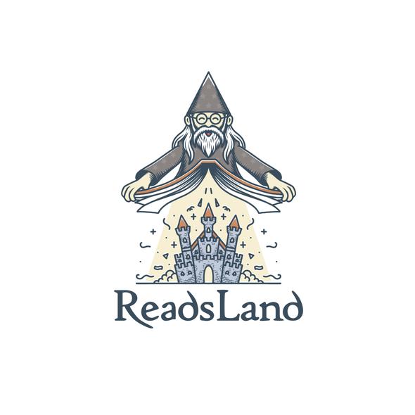 Castle design with the title 'Magic book'