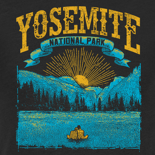 Park design with the title 'Yosemite National Park T-Shirt'