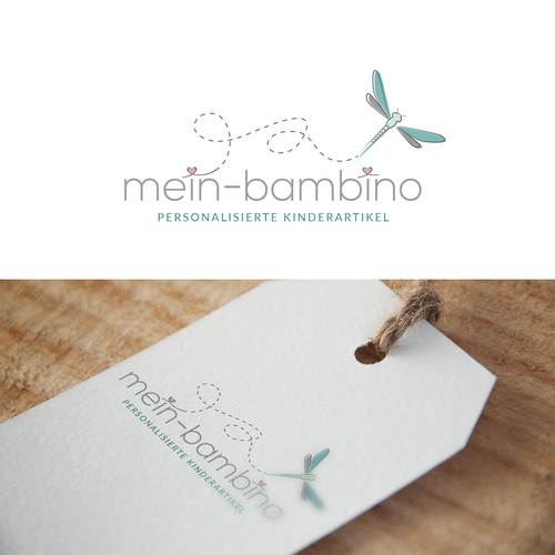 Children's clothes logo with the title 'Logo concept for a childrens boutique'