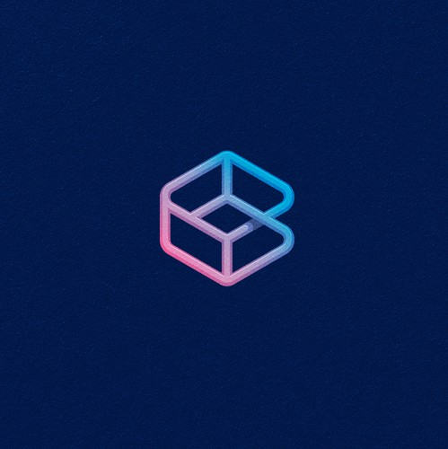 Hexagon logo with the title 'Brils cryptocurrency logo design'
