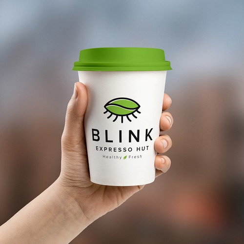 Eye design with the title 'BLINK EXPRESSO HUT'