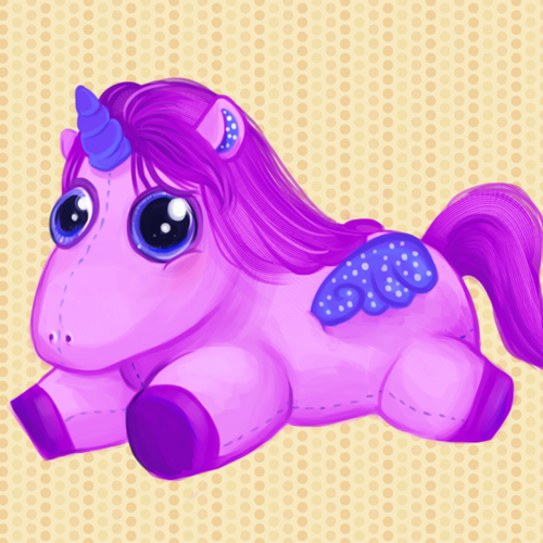 Horse illustration with the title 'Plushie Design 2'