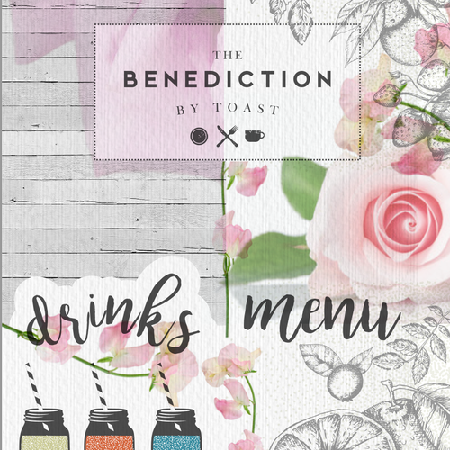 Lovely design with the title 'Shabby chic Menu for restaurant'