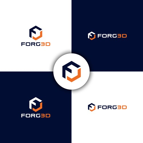 Printing logo with the title 'FORG3D'