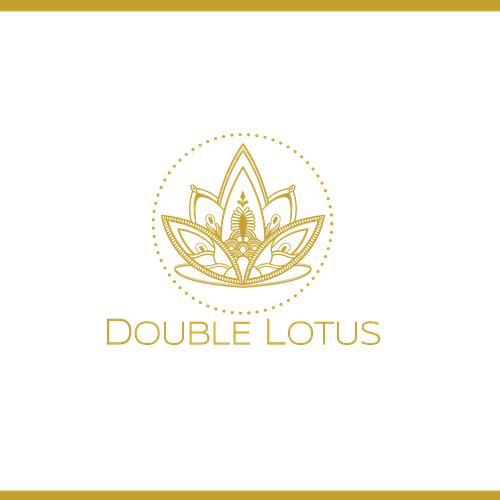 Lotus design with the title 'Line drawing geometric logo'