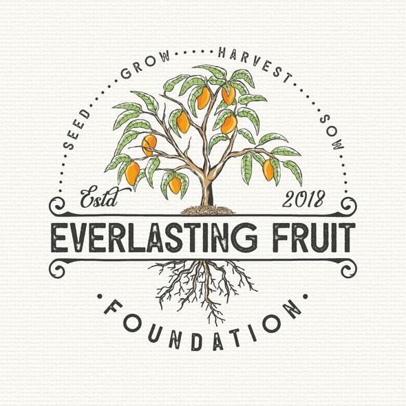 Mango logo with the title 'Logo for mango farm'