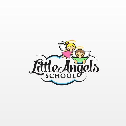 Angel wing design with the title 'Create a Logo for a Junior School'