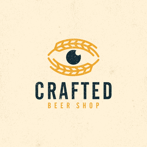 Craft beer design with the title 'Crafted Beer Shop Logo'
