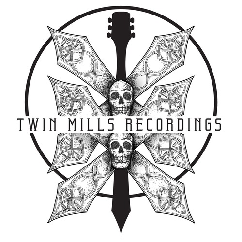 Stippling design with the title 'Twin Mills Recordings'