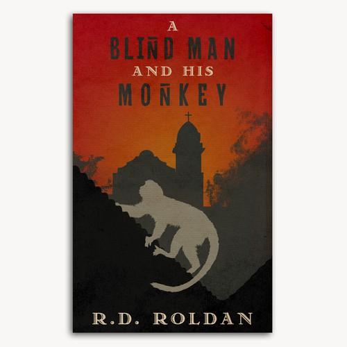 Novel design with the title 'Cover design for a novel'