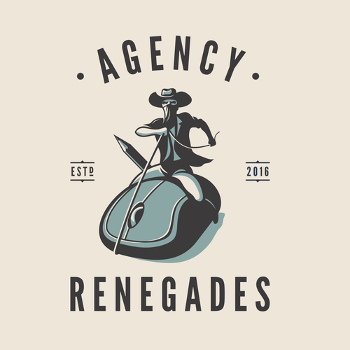 Art logo with the title 'agency renegardes'