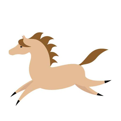 Pony design with the title 'cartoon horse'