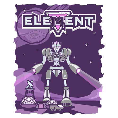 Robot t-shirt with the title 'ELEMENT T SHIRT'