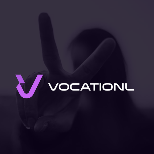 V logo with the title 'Vocationl - Mobile App for Management'