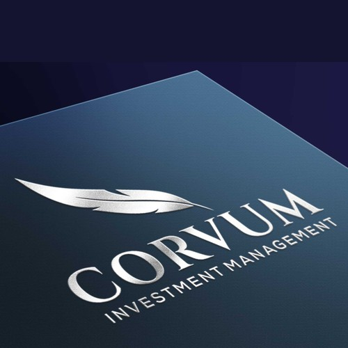 Bird logo with the title 'Won design for Corvum Investment Management'