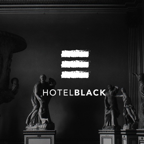 Clean brand with the title 'Logodesign for Hotel Black '