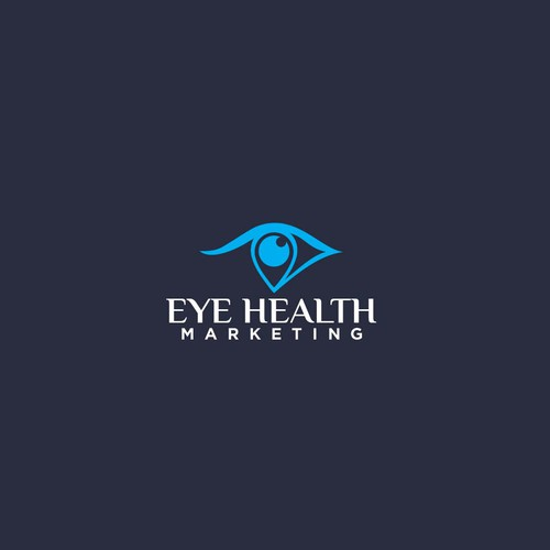Eye care logo with the title 'Modern Logo Design for Digital Marketing Consultants EyeCare Professionals'