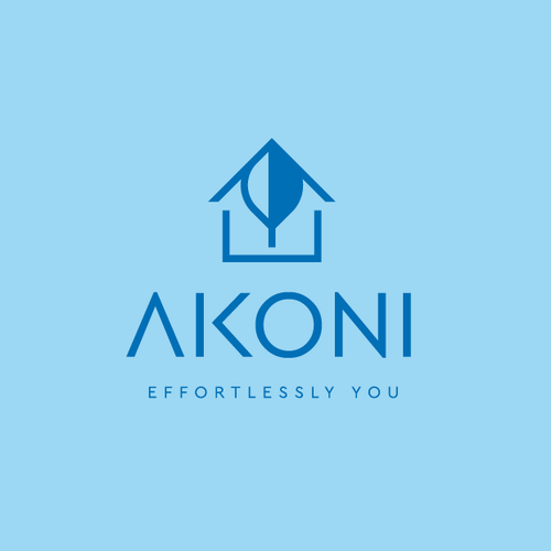 Blue brand with the title 'AKONI'