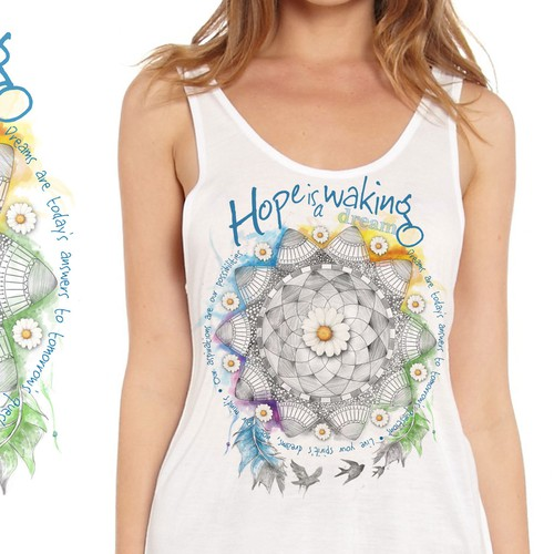 Mandala t-shirt with the title 'Mandala'