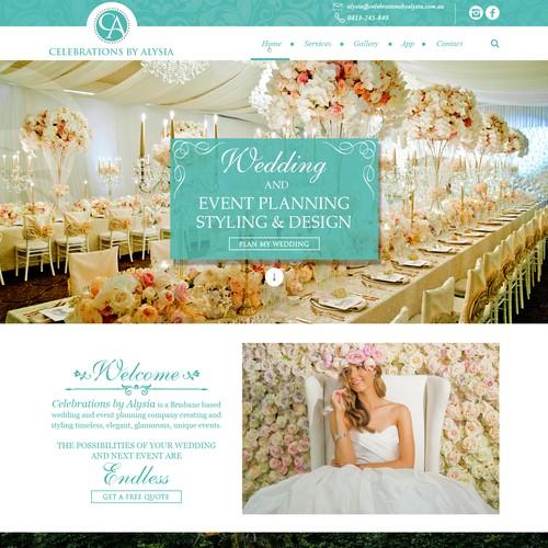 Wedding planning design with the title 'Luxury wedding planner needs new Website Design'