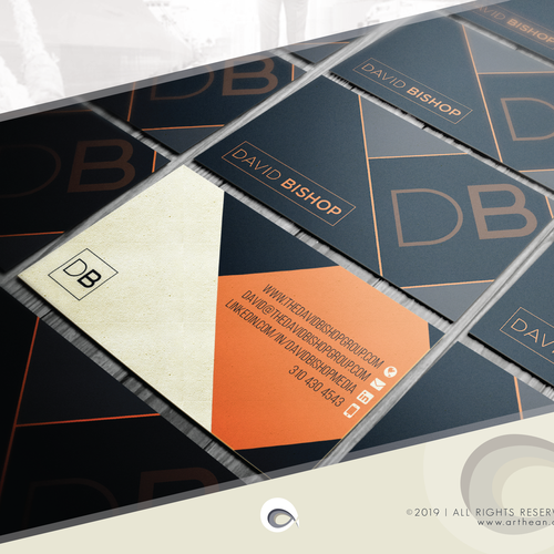 Out-of-the-box design with the title 'Business Card for Executive Organizational Expert in leadership development'