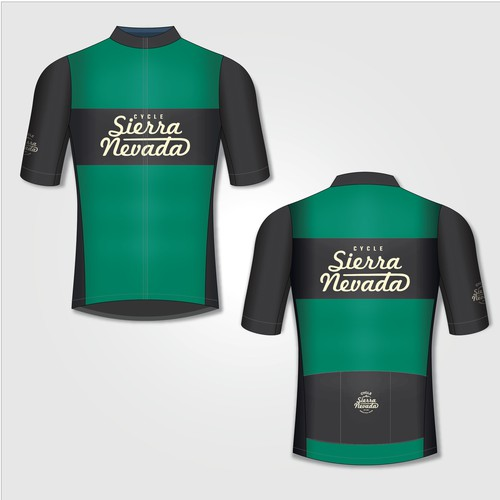 Cycling kit design with the title 'Cycling jersey design '