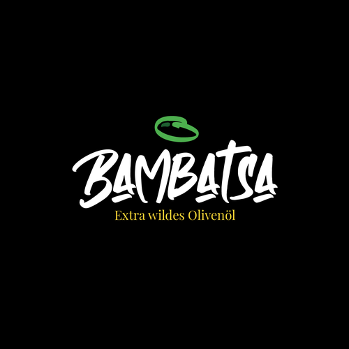 Marker logo with the title 'BAMBATSA Olive oil - Logo Concept'